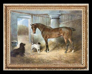 Horse With Dog  Miniature  Dollhouse Doll House Picture