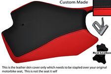 RED AND BLACK CUSTOM FITS APRILIA RS4 125 11-12 FRONT LEATHER SEAT COVER