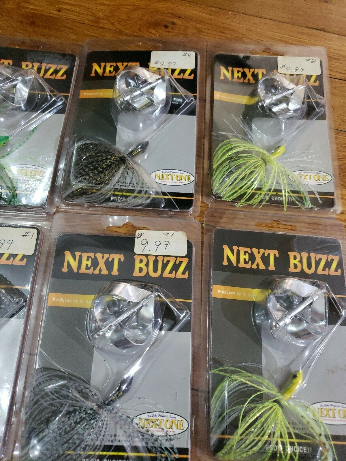 Lot of 10 SPINNER BUZZ  BAIT  FISHING LURE   Pat. No.009333 Rare Made in JAPAN