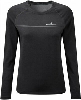 Clothing & Accessories Discreet Ronhill Everyday Long Sleeve Womens Running Top Grey