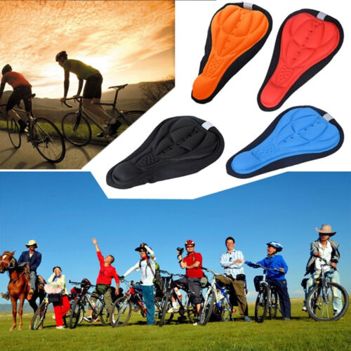 New Cycling Bicycle Bike Silicone Saddle Seat Cover Silica Gel Cushion Soft Pad