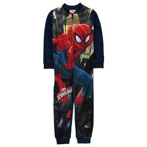 Marvel Spiderman Fleece All In One Sleepsuit Pyjamas Dress Up 2-3 5-6 years.