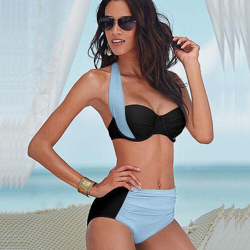 Damen Bikini Set Bademode Push Up Bh Bandage Zweiteiligen Badeanzug Schwimmanzug
