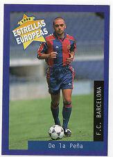 Panini 1996 Estrellas Europeas Spanish Issue Card De La Pena Lopez Barcelona