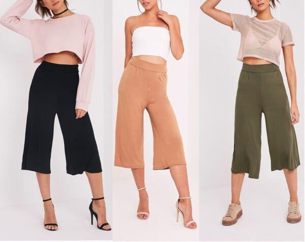 2019 Nuevo Estilo Nuevas Señoras De De Mujer Jersey Culottes Talla 4,6,8,10,12,14 Rrp £ 10.00-ver