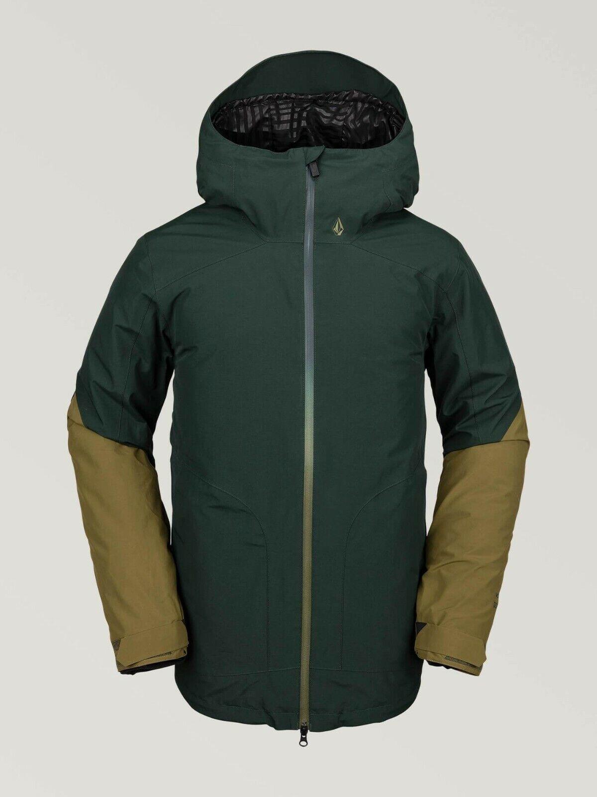 2020 NWT MENS VOLCOM RESIN GORE-TEX SNOWBOARD JACKET  340 L Dark Grün