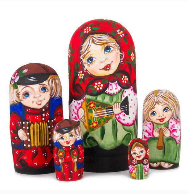 Russian Nesting Doll  INSTRUMENTS DE MUSIQUE  Set de 5 pièces