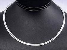 USA Seller Italian Omega 4mm Necklace Sterling Silver 925 Best Deal Jewelry 18""