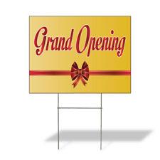 Weatherproof Yard Sign Grand Opening Advertising Printing C Yellow Lawn Garden