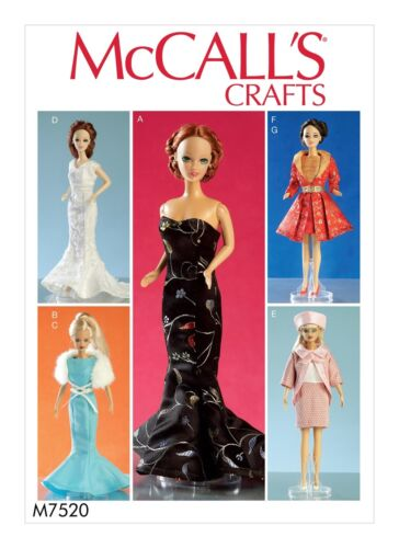 FANCY DRESSES~SUIT~COAT FIT BARBIE MAKE 11.5 INCH DOLL CLOTHES SEWING PATTERN