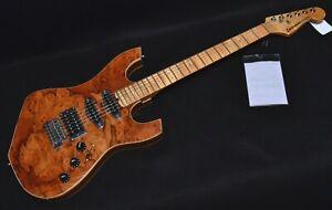 Solar Music Chopcaster Electric Guitar Natural Finish Professionally Setup!