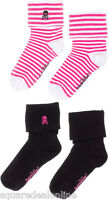 78555 Skull & Crossbones Sourpuss Sock Set Socks 2 Pairs Pinup Punk Rock Goth