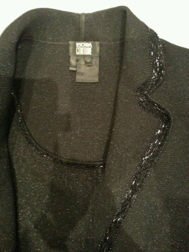 40 Escada Couture Luxus Tweed Glitzer 38 Blazer blackjacket Schwarz 1280 Boucle dxnnO0rp