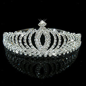 Sparkling-Wedding-Party-Prom-Bridal-Crystal-Rhinestone-Crown-Headband-Veil-Tiara