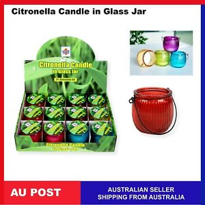 Citronella Candle in Glass Jar Lantern Mosquito Bugs ...