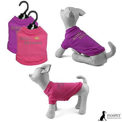 Dog T-Shirt - PAMPET LITTLE PRINCESS T-SHIRT Pink or Purple Shirt - FREE UK P&P!