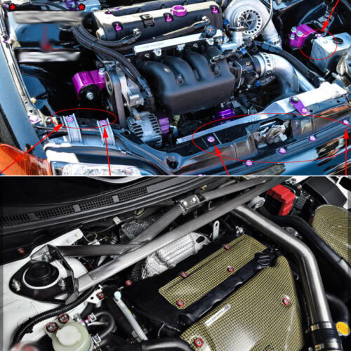 Car Universal Screw Washer Car Fender M6 Bolt Screw+Bumper Washer JDM 10pcs