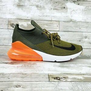 watch 5b2dd 2a825 Details about Nike Air Max 270 Flyknit Olive Flak Khaki Orange AO1023-301  Mens Sizes