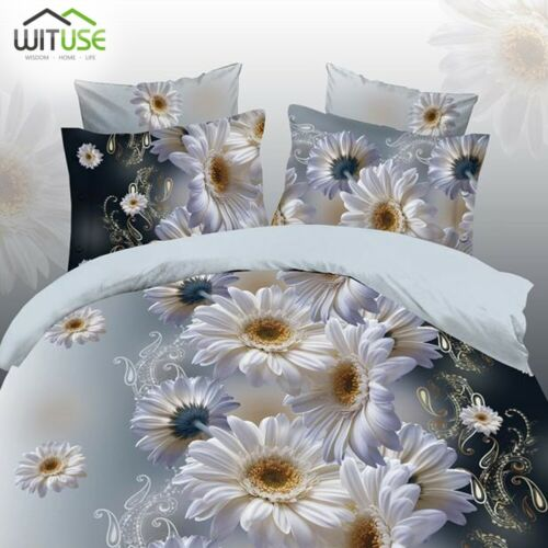 HD 3D DUVET QUILT COVER PILLOW CASES BEDDING SET FLORAL PRINTING TWIN//QUEEN 0C1
