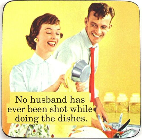 No husband has ever been Shot... funny drinks coaster hb
