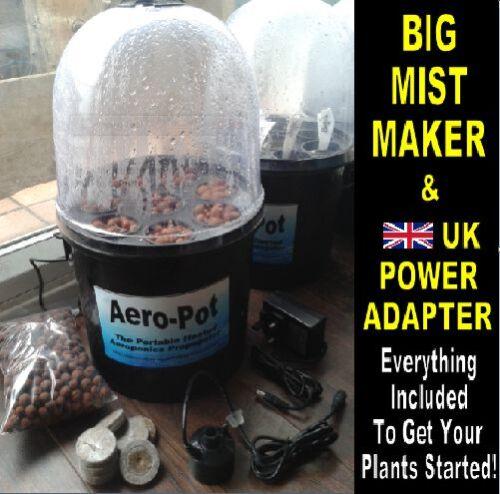 BIG MISTER AERO-POT 8x Pot Aeroponic Portable Heated Propagator BLACK