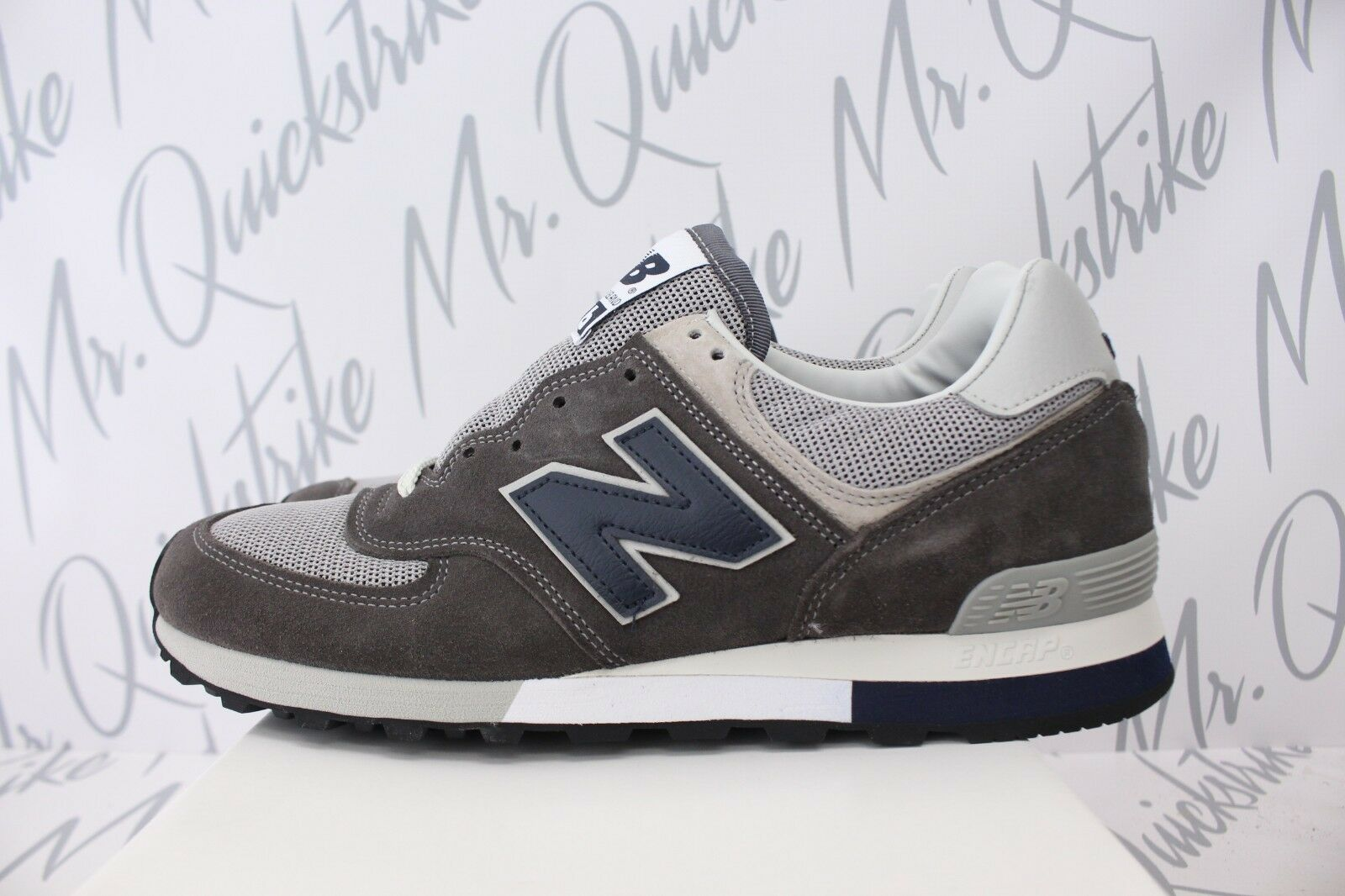 NEW BALANCE 576 MADE IN UK SZ 9.5 GREY NAVY OM576OGG