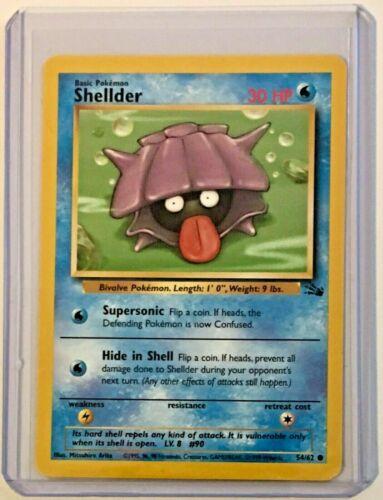 SHELLDER 54//62 Vintage ©1999 ENGLISH Fossil Set NEAR MINT CONDITION Pokemon Card