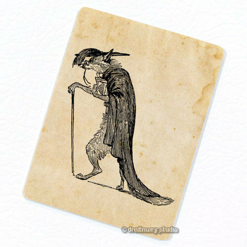 Fox Philosopher Deco Magnet Decorative Fridge Décor Wise Scholar Mini Gift
