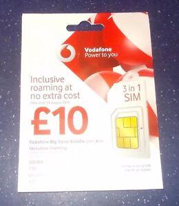 Details about Vodafone PAYG Sim Card Triple (Standard/Micro/Nano) Sim Pack  (buy 1 get 1 free)