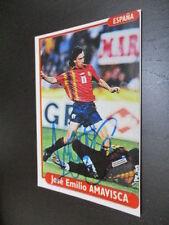55477 jose emilio amavisca españa original autografiada autografiada foto