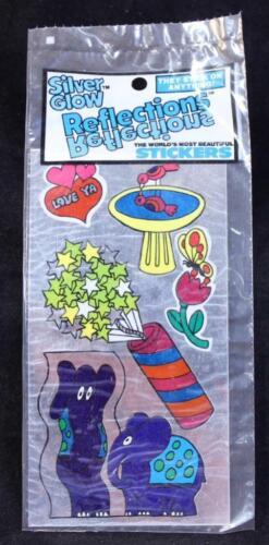 1983 Reflections Silver Glow Sticker Package Purple Elephant Made in U.S.A.
