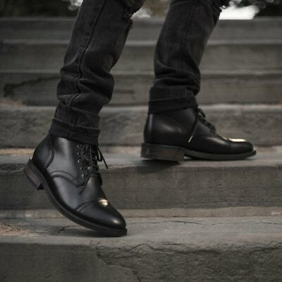 Handmade men leather boots, Men black ankle boots, Mens fashion style black  boot