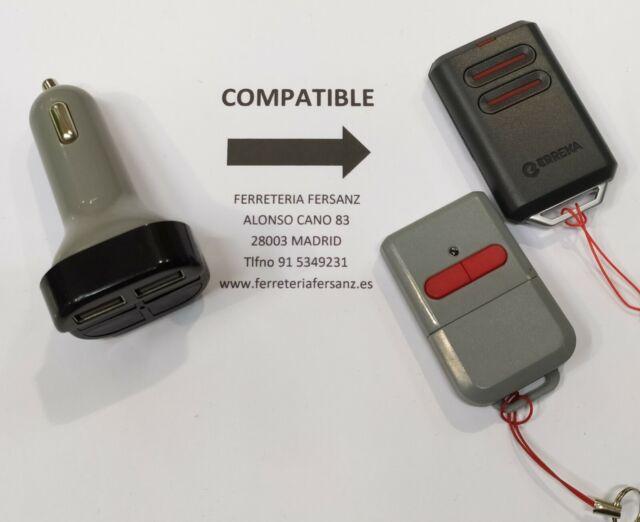 MANDO GARAJE COMPATIBLE ERREKA RESON SMAT LUNA 433 mhz MADRID FERRETERIA FERSANZ