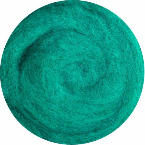 Grün Grass Olive Mint Filzwolle 100/% Wolle zum Filzen Trockenfilzen Nassfilzen