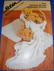 Robin-Baby-Shawl-amp-Pram-Cover-Knitting-Pattern-14696