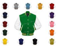 Faux Leather Sleeve Letterman College Varsity Men Wool Jackets Wsl-gdstr-wb