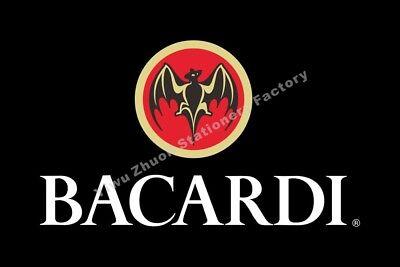 Bacardi Flag 3X2FT 5X3FT 6X4FT 8X5FT 10X6FT 100D Polyester Banner
