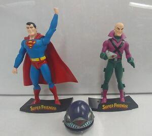Dc Direct Super Friends Ensemble de figurines Action Superman & Lex Luthor Deluxe 2003 Rare