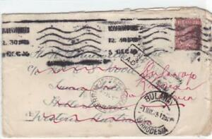 bulawayo-rhodesia-1925-heavy-cancelled-unclaimed-stamps-cover-ref-r14491
