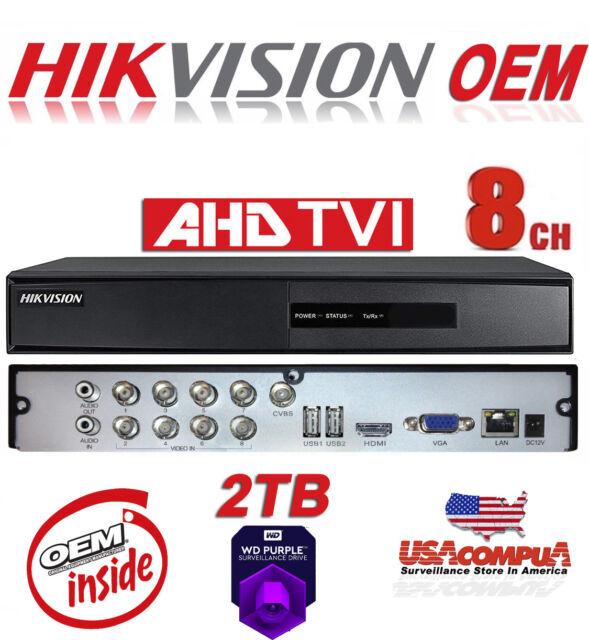 2IP HIKVISION 8CH TVI//AHD//IP 7208HGHI-F1// 1080P H264+//1080P lite// 2 IP