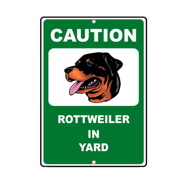 ROTTWEILER DOG Human Shoots Fun Novelty METAL Sign
