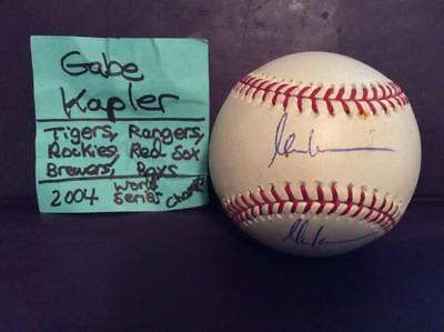 In Style; Beautiful Gabe Kapler Signed Mlbaseball/2004 Red Sox Champ/philadelphia Phillies Manager Fashionable