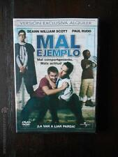 DVD MAL EJEMPLO - EDICION DE ALQUILER - SEANN WILLIAM SCOTT -PAUL RUDD