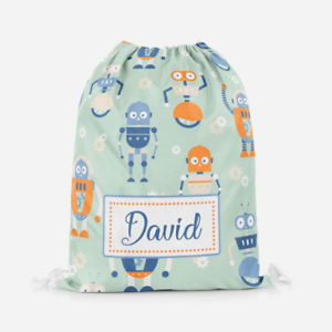 Personalised Hawaiian Luau Theme Kids Swimming School Children/'s Drawstring Bag