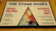 Stone Roses - Spike Island Ticket wall canvas