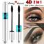 Waterproof-2-in-1-4D-Silk-Fiber-Eyelash-Mascara-Extension-Curling-Makeup-Black thumbnail 2