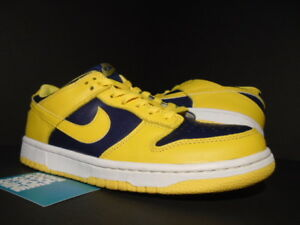 best service 4b6ca 1d31a Image is loading 1999-NIKE-SB-DUNK-LOW-MICHIGAN-WOLVERINES-Co-