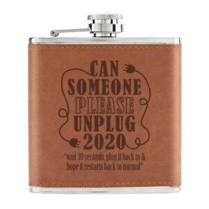 Peut-Someone-Please-Debranchez-2020-170ml-Cuir-PU-Hip-Flasque-Fauve-Worst-An