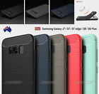 Black Slim Armor Shockproof TPU Case Cover for Samsung Galaxy S6 S7 S8 Plus J7