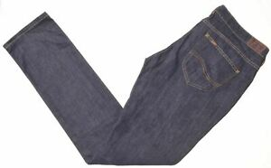 LEE-Womens-Jeans-W32-L33-Blue-Cotton-Straight-Norma-Narrow-KM02